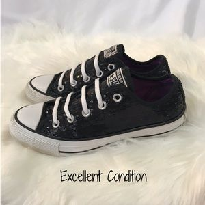 Converse Shoes - Converse Sequined Low Tops